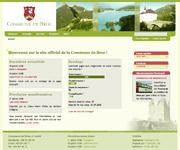Copie d'écran du site de la Commune de Broc