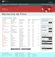 Copie d'écran du site FilmAges