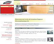 Copie d'écran du site de l'entreprise Sugnaux